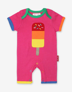 Organic Lolly Applique Romper