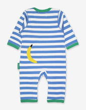 Load image into Gallery viewer, Organic Monkey Applique Sleepsuit