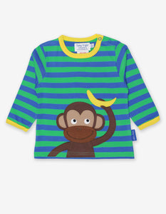 Organic Monkey Applique T-Shirt