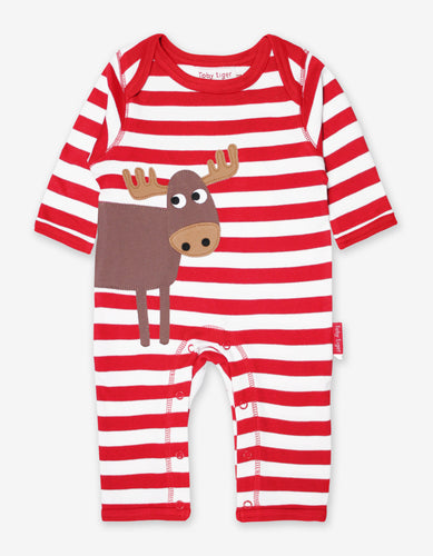 Organic Moose Applique Sleepsuit