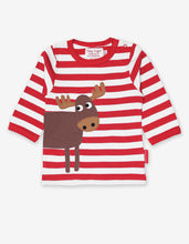 Load image into Gallery viewer, Organic Moose Applique T-Shirt