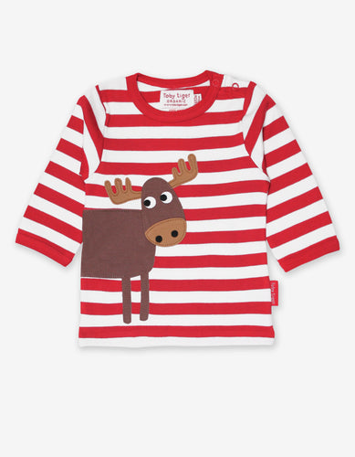 Organic Moose Applique T-Shirt