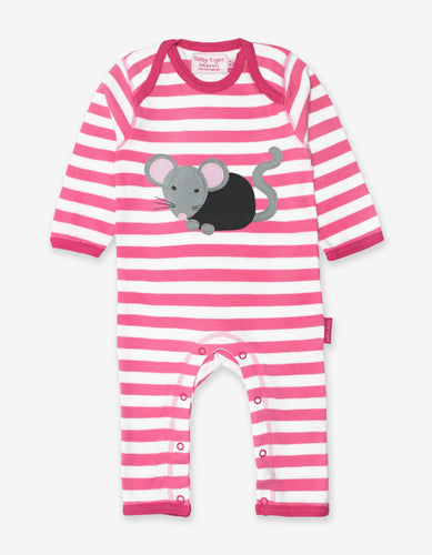 Organic Mouse Applique Sleepsuit