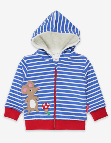 Organic Mouse and Mushroom Applique Hoodie