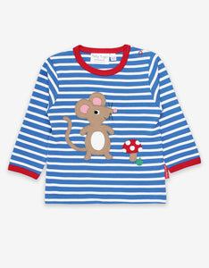 Organic Mouse and Mushroom Applique T-Shirt