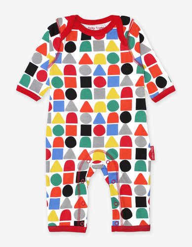 Organic Multi Building Block Print Sleepsuit