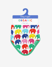 Load image into Gallery viewer, Organic Multi Elly Print Dribble Bib
