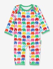 Load image into Gallery viewer, Organic Multi Elly Print Sleepsuit