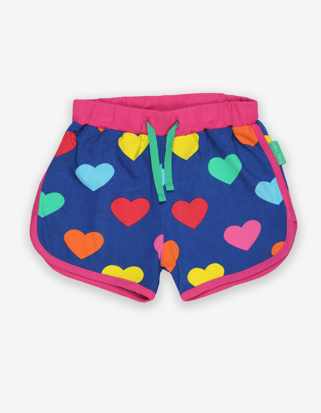 Organic Multi Heart Print Running Shorts