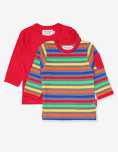 Load image into Gallery viewer, Organic Multi Stripe 2-Pack T-Shirt