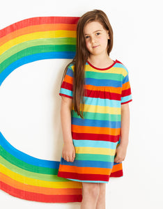 Organic Multi Stripe Dress