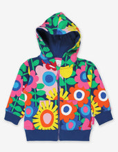Load image into Gallery viewer, Organic Navy Flower Power Hoodie