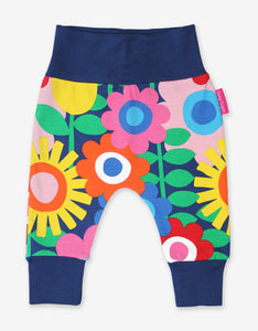 Organic Navy Flower Power Yoga Pants