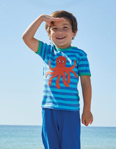 Organic Octopus Applique T-Shirt