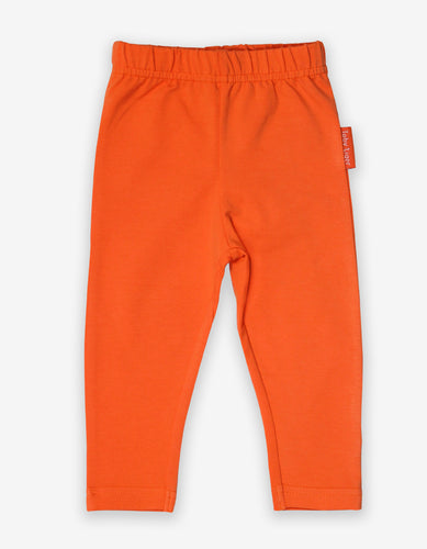 Organic Orange Basic Leggings