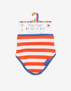 Organic Orange Stripe Dribble Bib