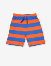 Load image into Gallery viewer, Organic Orange and Blue Stripe Shorts