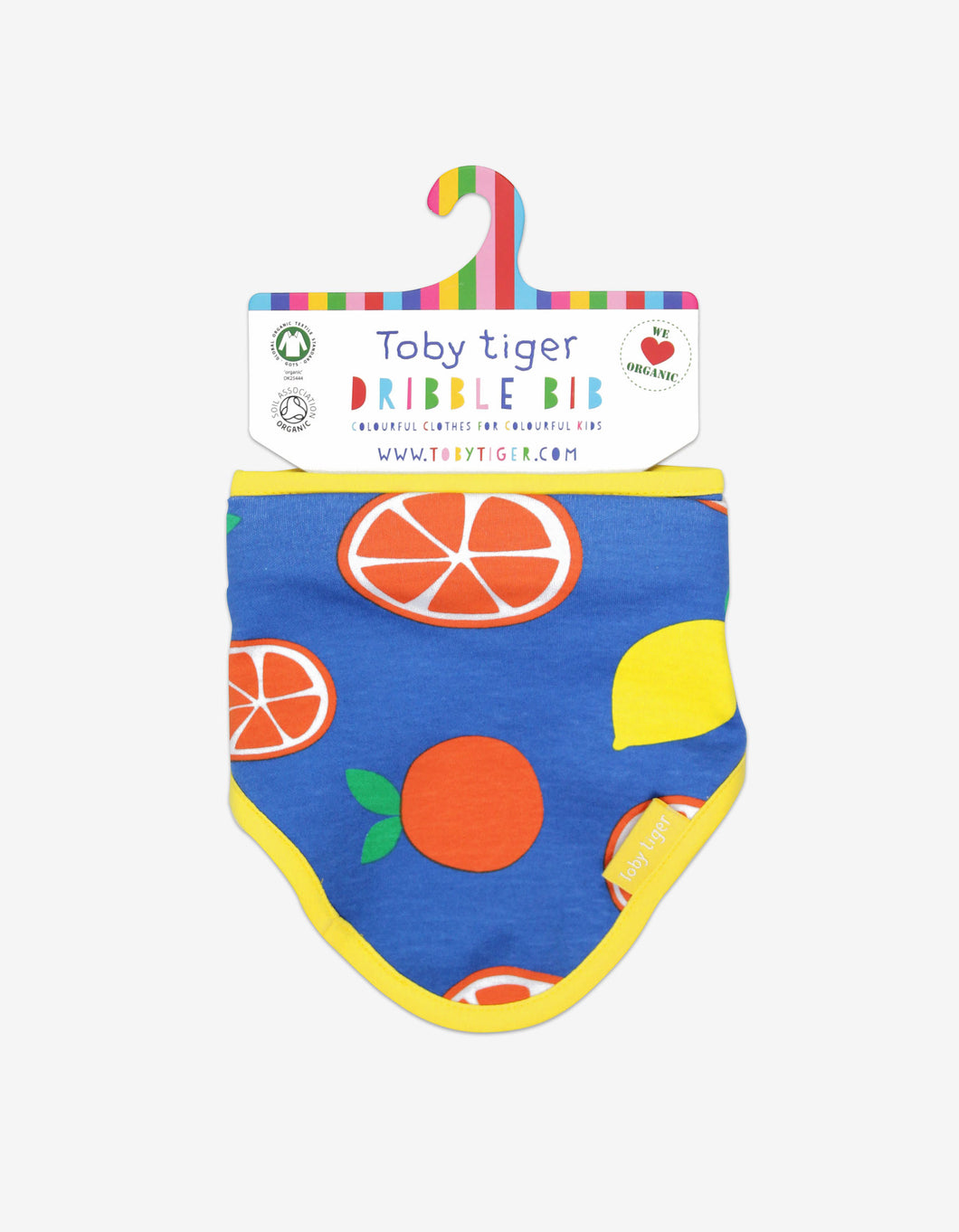 Organic Oranges and Lemons Dribble Bib