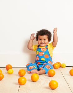Organic Oranges and Lemons Dungarees