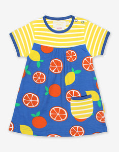 Organic Oranges and Lemons Print Dress