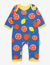 Load image into Gallery viewer, Organic Oranges and Lemons Print Sleepsuit