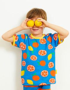 Organic Oranges and Lemons Print T-Shirt