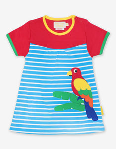 Organic Parrot Applique Dress