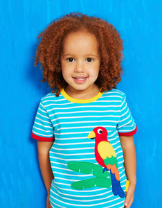 Organic Parrot Applique T-Shirt