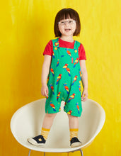 Load image into Gallery viewer, Organic Parrot Dungaree Shorts