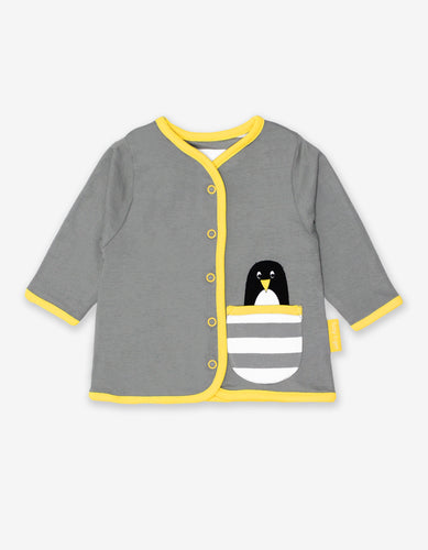 Organic Penguin Applique Cardigan