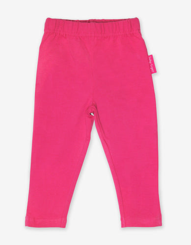 Organic Pink Basic Leggings