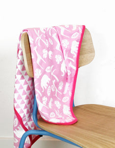 Organic Pink Jungle Blanket