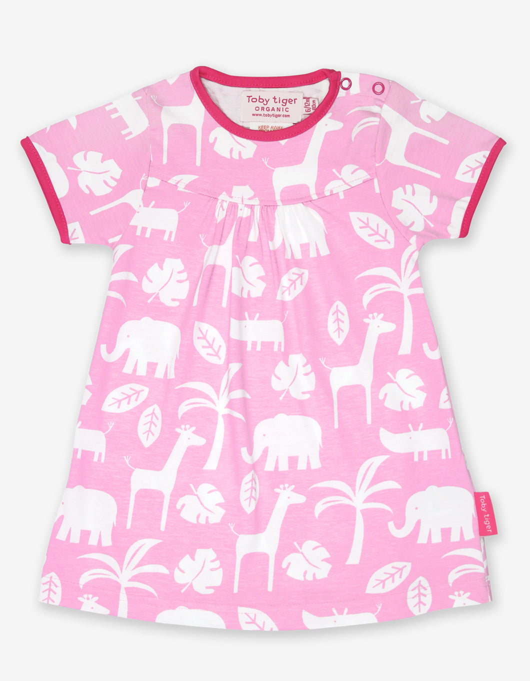 Organic Pink Jungle Print Dress