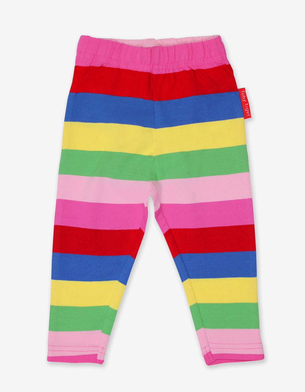 Organic Pink Multi Stripe Leggings