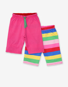 Organic Pink Multi Stripe Reversible Trousers
