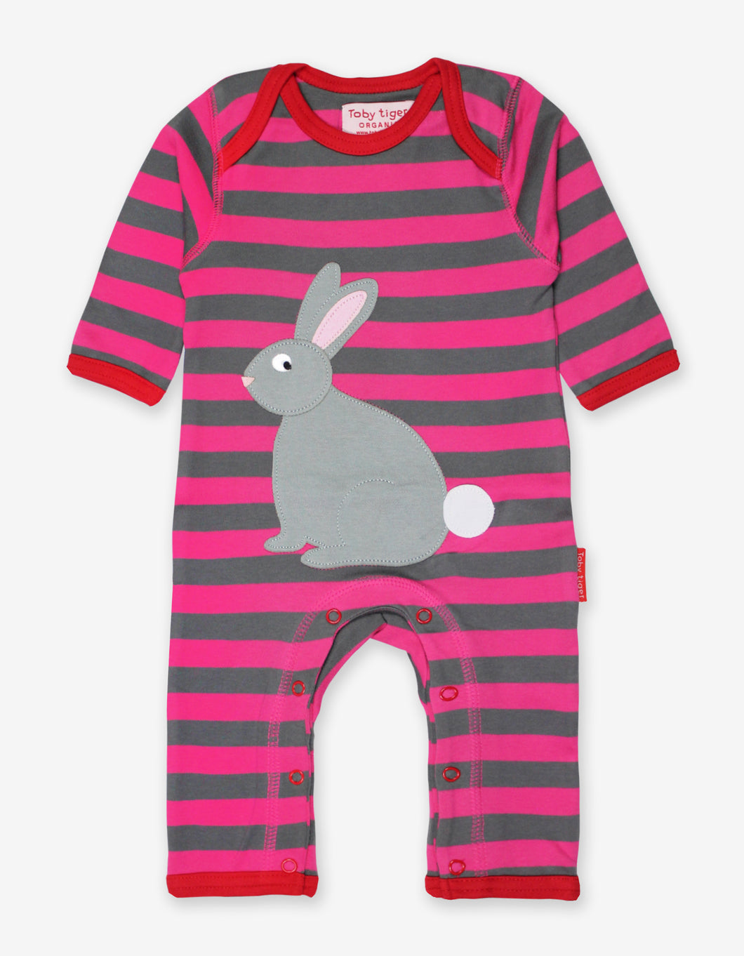 Organic Rabbit Applique Sleepsuit