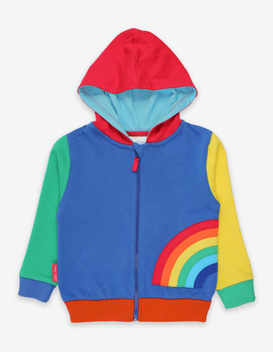 Organic Rainbow Applique Hoody