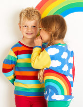 Load image into Gallery viewer, Organic Rainbow Applique T-Shirt
