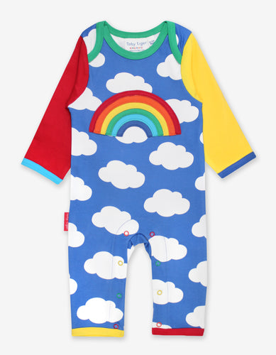 Organic Rainbow Applique Sleepsuit