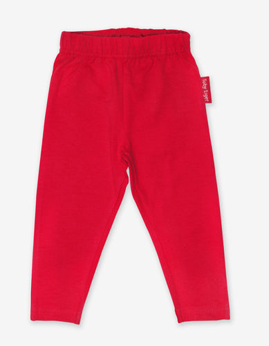 Organic Red Basic Leggings