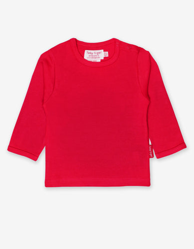 Organic Red Basic T-Shirt