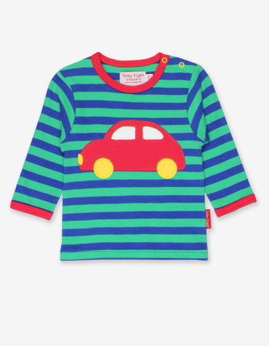 Organic Red Car Applique T-Shirt