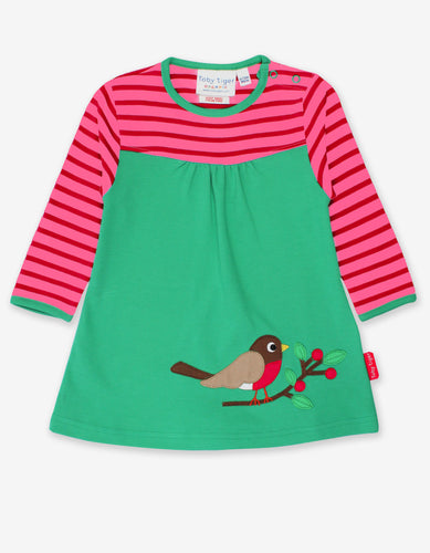 Organic Robin Applique Dress