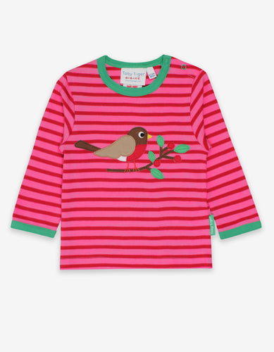 Organic Robin Applique T-Shirt
