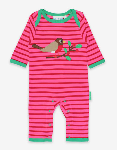Organic Robin Applique Sleepsuit