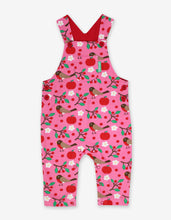 Load image into Gallery viewer, Organic Robin Print Dungarees