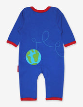 Load image into Gallery viewer, Organic Rocket Applique Sleepsuit