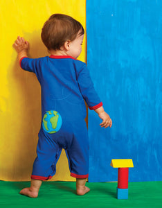 Organic Rocket Applique Sleepsuit