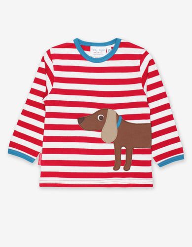 Organic Sausage Dog Applique T-Shirt