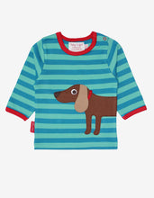 Load image into Gallery viewer, Organic Sausage Dog Applique T-Shirt